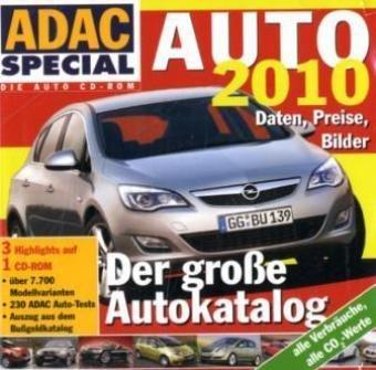 Auto 2010, 1 CD-ROMDer große Autokatalog. Daten, Preise, Bilder. Über 7.700 Modellvarianten. 230 ADAC Auto-Tests. Auszug aus dem Bußgeldkatalog. Alle Verbräuche, alle CO2-Werte. Für Windows 98/ME/2000/XP/Vista