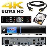 GigaBlue UHD Quad 4K 2X FBC DVB-S2 Tuner 1x Single DVB-S2X Tuner Ultra HD E2 Ricevitore Linux con Disco Rigido da 2000 GB
