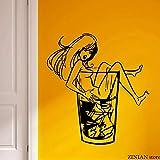 woyaofal Fille Stickers Muraux Whisky sur Les Rochers Autocollant Mural pour Partie...