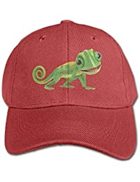 uykjuykj Green Lizard Chameleon Black Baseball Cap Solid Color Hat Boys and  Girl Adjustable Unique Personality c0f5b515b4a2