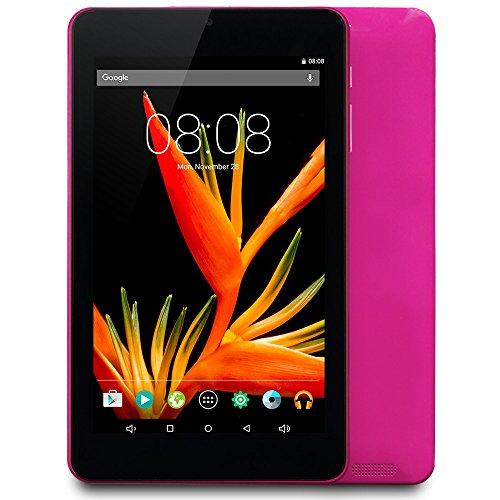 Alldaymall Tablet 7 pollici 16GB (IPS FHD 1920x1200, Processore 64-Bit Quad Core, RAM 1GB, Android (Viola Bluetooth)