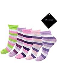 xhorizon TM MLK Stripe élastique cinq doigts chaussettes à bout