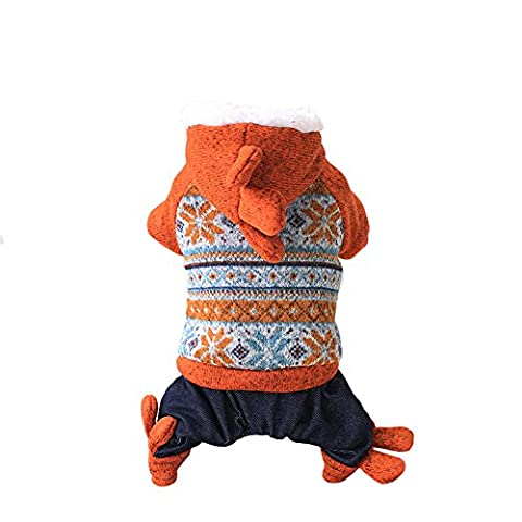 Gros Chien Costumes Pour Halloween - Vêtement Manteau Costume à Capuche de Flocon