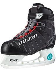 Bauer React - Patines de hockey sobre hielo para hombre negro negro Talla:9
