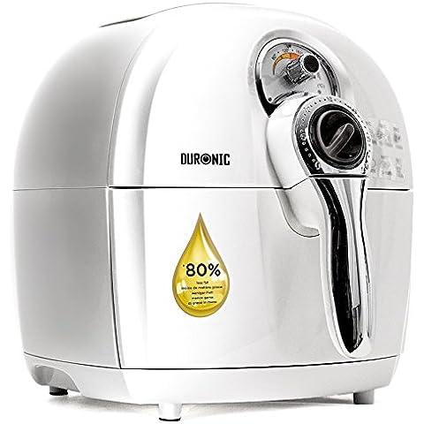 Duronic AF1/W – Airfryer, freidora saludable multiuso sin necesidad de aceite –Tecnología circulación de aire – Capacidad 2.2L – Piezas aptas lavavajillas