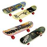 Sunshay 10pcs Mini Dito Skateboard Per Tech Ponte Leghe In Lega Giocattoli Classici Dei Ragazzi Macchia Fingerboard B