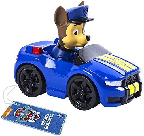 PAW-PATROL-Rescue-Racer-modell-CHASE-ROADSTER-8cm-Fahrzeug-SPIN-MASTER-Original