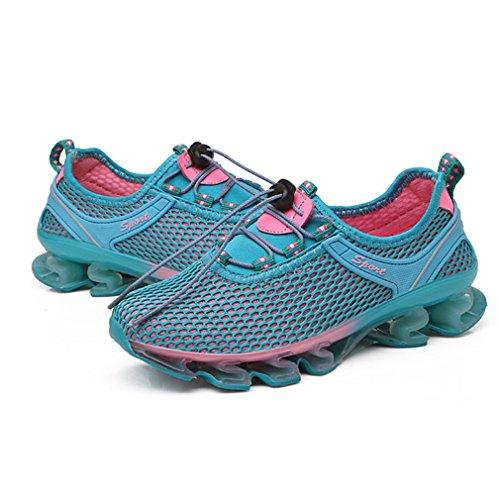 Herren Freizeitschuhe Atmungsaktiv Dämpfung Damen Trekking Wanderschuhe Mesh Outdoor Sport Fitness Sneaker Sommer Blau