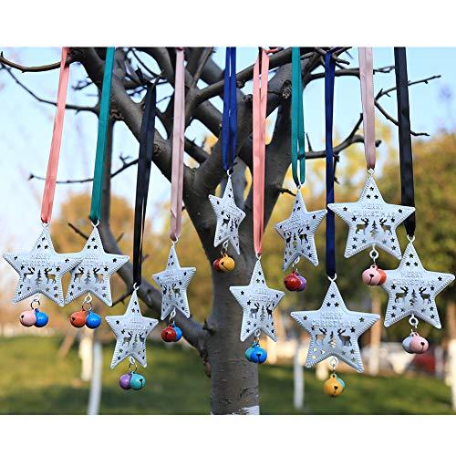 DAHI Weihnachtsanhänger Sterne Glöckchen zum Hängen Christbaumschmuck Anhänger Baumschmuck