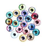 FURU DIY Puppenaugen zum Basteln,20Pcs Glaspuppen Auge DIY Handwerk Tier Augen Schmuck Zubehör 10/16 / 20mm