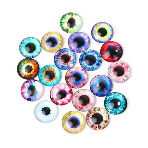 Yubusiness-Glaspuppen-Auge, zum Selbermachen, für Tieraugen, 10/16 / 20 mm, 20 Stück