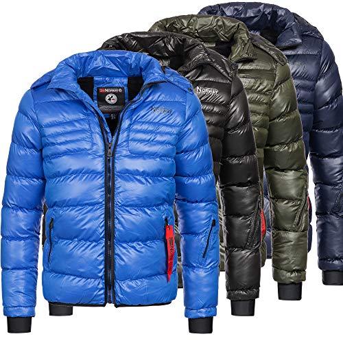 Geographical Norway Herren Winterjacke Jacke Parka Winter warm gefüttert Daunen Look Kapuze Betsa S-XXL 4-Farben