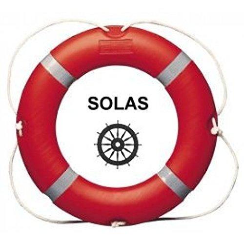 Rettungsring 2,5 kg 75 cm SOLAS - EN 14144 mit Reflexstreifen