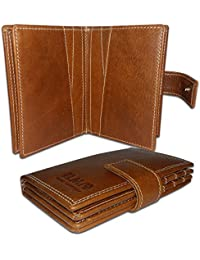 EL Mio Brand New Fashionable, Classic & Royal 100% Pure & Natural Vintage Tan Genuine Leather Unisex Trendy Rustic...