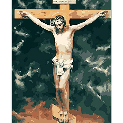 CCEEBDTO Klassisches Puzzle 500 Teile Erwachsene Puzzle Holzpuzzle 3D Puzzle Überquere Jesus DIY Pädagogisches Puzzle Weihnachten Wohnkultur Geschenk 52X38Cm (Teile Jesus-puzzle 500)