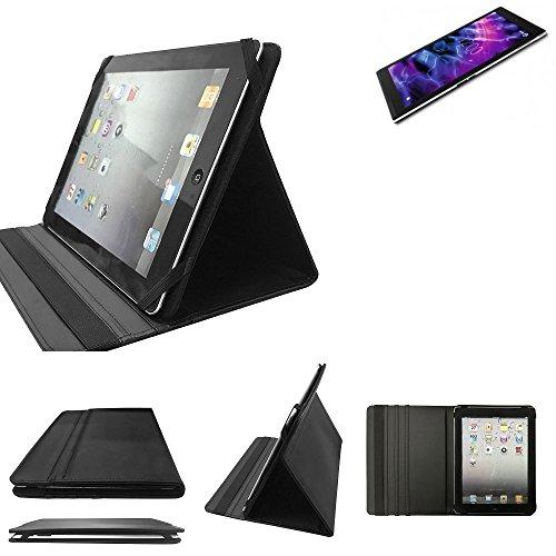 K-S-Trade Medion Lifetab S10351 Schutz Hülle Business Case Tablet Schutzhülle Flip Cover Ultra Slim Bookstyle Tasche für Medion Lifetab S10351, schwarz. Kunstleder Qualitätsware