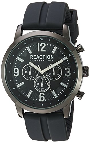 Kenneth Cole REACTION Men's 'Sport' Quartz Metal and Silicone Casual Watch, Color:Grey (Model: 10030931)