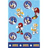 Sonic Tablecover for Disposable Party Tableware by Monster Parties