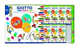Giotto- Party Set PASTELLI A Cera 10x4, 4 Colori Assortiti, 3110000