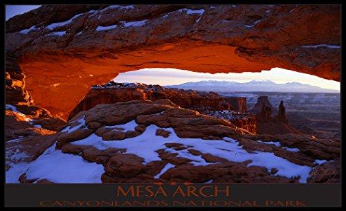 Northwest Art Mall il-4745Mesa Arch Canyonlands National Park Print von Künstler Ike LEAHY, 27,9x 43,2cm