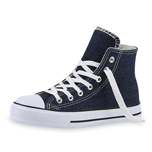 Japado - Scarpe da Ginnastica Basse Donna Blu (Jeans)