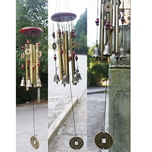 ROSENICE Windspiel, 4 Rohre 5 Glocken Klangspiel Windspiel - 2