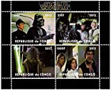 Star Wars sellos - Star Wars - 4 sellos. Menta y sheetlet sello sin montar