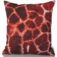 Sunburst Outdoor Living 45cm x 45cm GIRAFFE Federa decorativa per cuscini per divano, letto, sofà (Rust Brown Set Esterno)