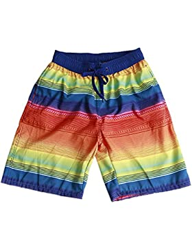 ZEVONDA Summer Couple Beach Quick Dry Surfing Corriendo Pantalones Hombres y Mujeres Swim Trunks Shorts