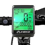 SANBLOGAN Fahrradcomputer, Wasserdicht Tachometer LCD-Hintergrundbeleuchtung Sport Fahrrad Kilometerzähler Radcomputer, Fahrradtacho für Radsport Realtime Speed Track und Distanz (mit Kabel)