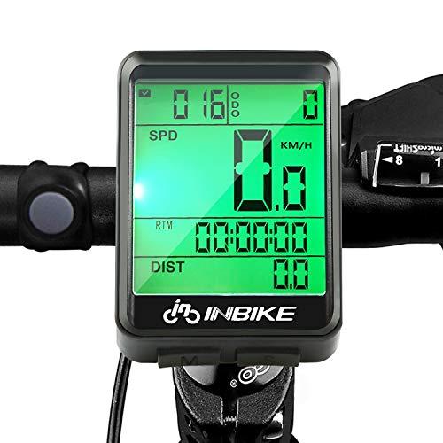 SANBLOGAN Fahrradcomputer, Wasserdicht Tachometer LCD-Hintergrundbeleuchtung Sport Fahrrad Kilometerzähler Radcomputer, Fahrradtacho für Radsport Realtime Speed Track und Distanz (mit Kabel) -