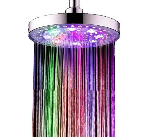 Star-line®, soffione maxi a led di circa 20 cm rotondo, 7 colori con cambiamenti di colore, arcobaleno, adatto per casa e hotel, luci colorate e non singoli colori!!