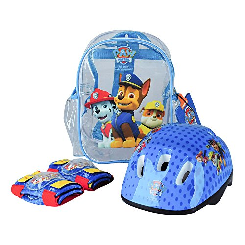 Paw Patrol OPAW004 - Protection Set, Helmet, Knee padselbow Pads, PVC transparent Bag -