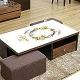 FuJia Tischdecken Tischdecke weichem Kunststoff Glas wasserdicht couchtisch tv-Schrank tischdecke Tuch wasserdicht, 70 * 130cm