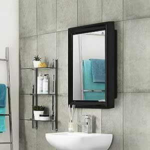 Nilkamal Gem Plastic Cabinet with Mirror (Black)