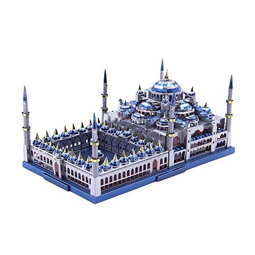 Unbekannt 3D Metall Puzzel Montage Architektur Modellbau Kit DIY Laser geschnittene Puzzle Spielzeug - Microworld J029 Türkei Blaue Moschee (Sultan Ahmed Mosque)