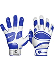 Shock Doctor Cutters Mens Power Control Grip Batting Gloves White/Royal Adult XL
