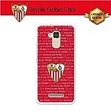 Sevilla F.C. Funda Gel Flexible ASUS Zenfone 3 MAX ZC520TL, Carcasa TPU, Protege y se Adapta a la Perfección a tu Smartphone - Sevilla Fondo Nunca se rinde.