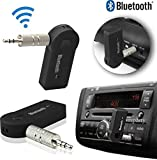 SPYKART Wireless Bluetooth Receiver Adapter 3.5MM AUX Audio Stereo Music Hands free Car Kit, Connector, Adapter Dongle, Audio Receiver, Car Charger, FM Player, FM Transmitter, MP3 Player, Remote Control, Transmitter, USB Cable (Black)