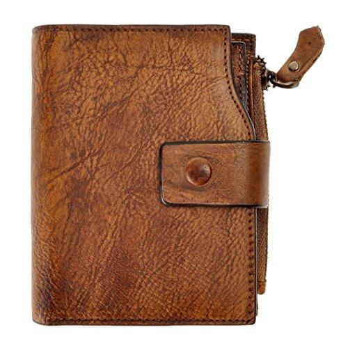 ZLYC stile retrò a mano inclusa a portafoglio in pelle
