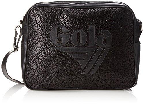 Gola Unisex-Erwachsene Redford Metallic Geo Schultertaschen, 30x45x14 cm Schwarz (Black/Black)