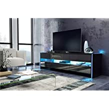 meuble tv noir. Black Bedroom Furniture Sets. Home Design Ideas