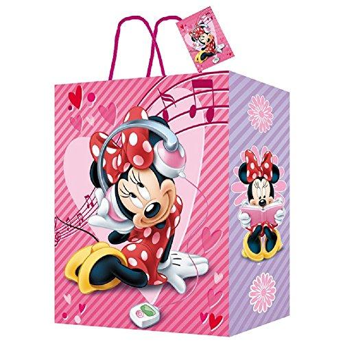 Tasche papier median für geschenk 27x33x11cm Minnie Mouse
