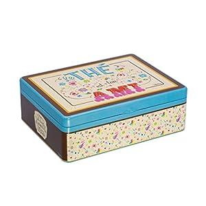NATIVES 610180 Ton ami Boîte à thé de 6 compartiments Métal Multicolore 20 x 14,5 x 6,5 cm