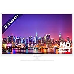 """TV INFINITON INTV-32 LED de 32"""" (Blanca) HD Ready 720p (1280 x 720) Función PVR"""