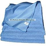 Price-Limit-Shop24 5 Microfaser Tücher Tuch Mikrofaser Poliertücher XL Größe ca. 50 cm x 70 cm Blau Geschirrtuch