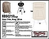 Raffles Covers RBBQ75Rhigh Grillabdeckung Kugelgrill Ø 75 cm Wetterschutzhülle für Grill, Abdeckplane BBQ