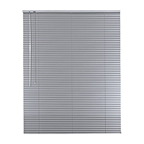 Alu-Aluminium Jalousie Rollo Jalousette 70 x 120 cm / 70x120 cm in Farbe silber - Bedienseite links