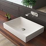 bad1a Keramik Aufsatzbecken Badezimmermöbel Weiß Waschtisch Aufsatzschale Waschbecken