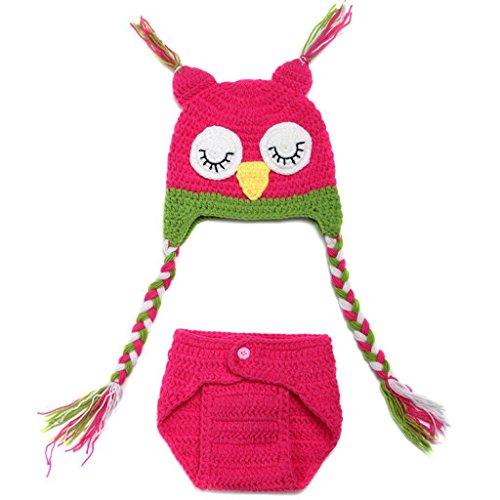 DAYAN Süße Eule Style Baby Kleinkinder Neugeborenen Hand gestrickte häkeln Hut Kostüm Baby Fotografie Requisiten Set